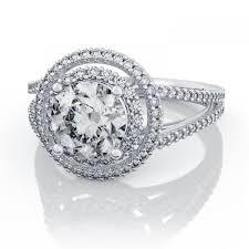 engagement ring setting 35ctw split shank halo diamond engagement ring setting in platinum