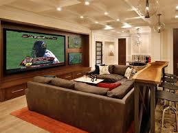bachelor pad cinema room with bar and huge sofa man caves