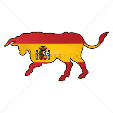 Bull Flag Bull With Spain Flag Vector Image 1565309 Stockunlimited