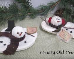 melted snowman etsy