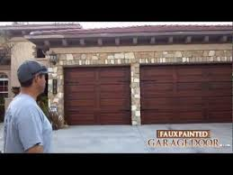 Faux Paint Garage Door - 12 faux painted garage door youtube
