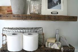 Diy Shelves For Bathroom by Diy Rustic Bathroom Shelves Seeking Lavendar Lane