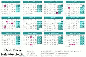 Kalender 2018 Feiertage Mv Kalender 2018 Meck Pomm