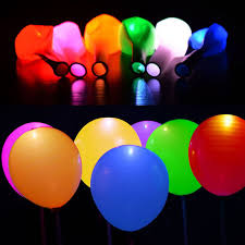 glow in the balloons 50pcs lot led helium balloons light decor float cool glow balloons