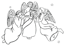 coloring page angel visits joseph coloring pages of angels coloring pages of angels anime angel