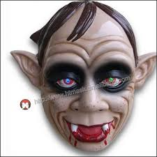 cheap masks factory wholesale cheap pvc handmade frightful ghost vire fangs