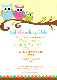 Baby Shower Invitations Card Owl Baby Shower Invitations Kawaiitheo Com