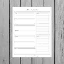 design planner minimalist weekly planner printable