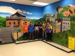 great wall of china mural