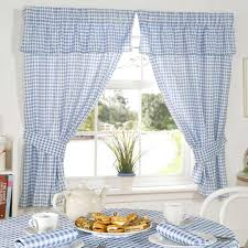 Blue Kitchen Curtains by Emma Barclay Molly Gingham Check Kitchen Pencil Pleat Curtains Ebay