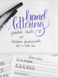 free printable hand lettering practice sheets muscle memory