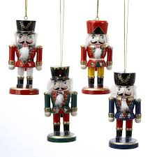 wooden nutcracker ornaments 4 assorted kurt s adler