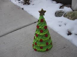 paper cone christmas tree craft tutorial youtube