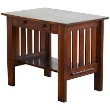 Mission Style Nightstand Arts And Crafts Mission Style Oak Library Table From The Estate Of