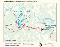 Salem Virginia Map by Battle Of Chancellorsville Campaign Civil War Virginia Map