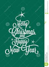 merry and happy new year greetings postcard stock vector