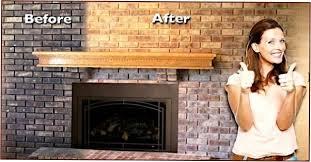 How To Reface A Fireplace by Brick Transformers Artistically Refinishes And Stains Existing