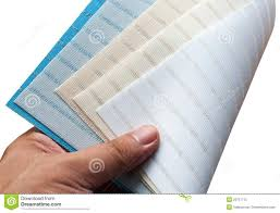 selection of curtain blinds fabric royalty free stock photo
