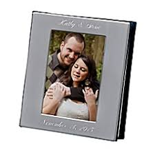 personalized wedding photo album personalized wedding picture frames photo albums bed bath beyond