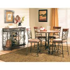 dining room bar height dining table with 6 chairs cottage dining