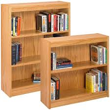 Solid Wood Bookcase Furniture Home Two Tall Bookcases Modern Elegant New 2017