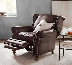 percy leather recliner pottery barn