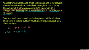 systems of equations with elimination tv u0026 dvd video khan academy