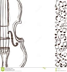 violin or bass and music notes royalty free stock photo image