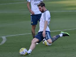 us soccer tattoo lionel messi shows off weird new tattoo during argentina training