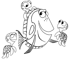 cartoon fish nemo coloring pages womanmate com on coloring nemo