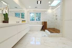 Modern Marble Bathroom Marble Bathroom Bathroom Contemporary With Angled Glass