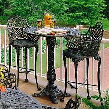 Bistro Patio Tables Basket Weave Patio Bar Set Traditional Outdoor Pub And Bistro