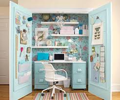 How To Turn A Closet Into An Office Closet Makeover - Closet home office design ideas