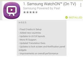 samsung watchon apk samsung watchon closes unexpectedly on galaxy s4