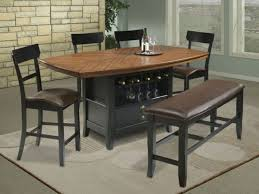 Chair Bar Height Kitchen Table Sets Dining With  Chairs - Bar height dining table with 8 chairs