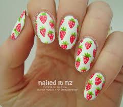 mini strawberries easy nail art tutorial
