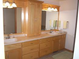 Wooden Bathroom Wall Cabinets Bathroom Black Polished Solid Wood Bathroom Vanity With Three