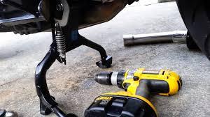 suzuki bandit 1250s exhaust center stand bumper cont u0027d youtube