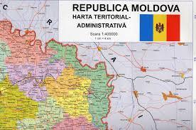 Moldova Map Republica Moldova Harta Teritorial Administrativa