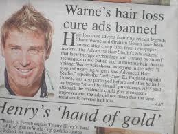 shane warne hair transplant leadership thoughts and ideas shane warne s hair loss cure ads