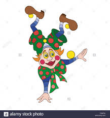 funny clown character illustration creative trendy concept