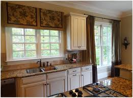 kitchen creamy brown curtain red kitchen curtains stylishly
