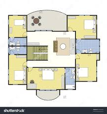 home layout design ground floor plan floorplan house home stock vector 74222734