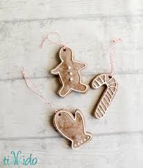 gingerbread salt dough ornament recipe and tutorial tikkido