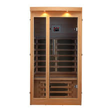 radiant sauna 2 person cedar infrared sauna with 6 carbon heaters