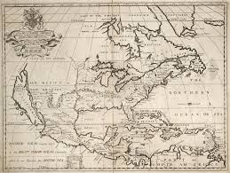North America Map 1700 by A New Map Of North America Shewing Its Principal Divisions Chief