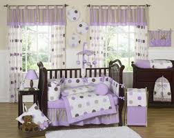 Design Crib Bedding Bedroom Purple Dots Crib Baby Bedding Set With Matching Baby Room