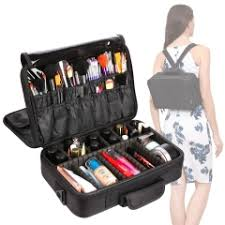 professional makeup carrier vasker 3 layers professional cosmetic travel makeup organizer