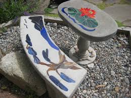 bonsai tree bench artistic stained glass stepping out