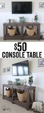 Furniture Tables Living Room by Diy Diagonal Base Farmhouse Console Table Console Tables